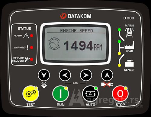 Datakom kontroler za automatski rad agregata D300