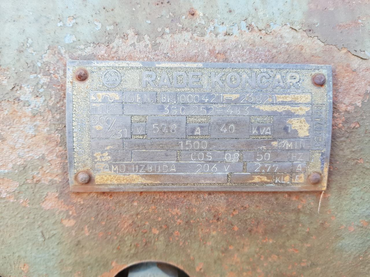 Agregat za remont, Torpedo, Rade Končar